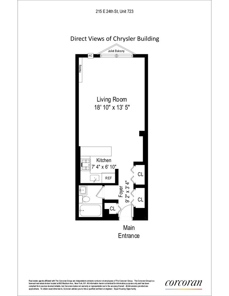 Unit 723 at 215 East 24th Street, New York, NY 10010
