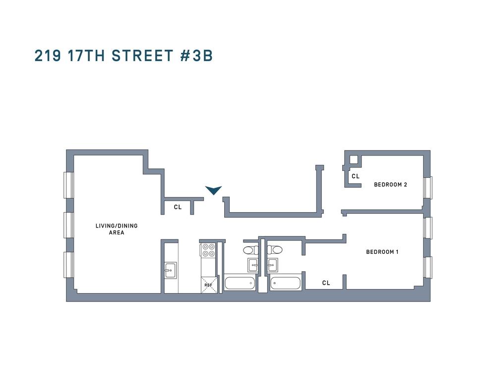 Unit 3B at 219 17th Street, Brooklyn, NY 11215