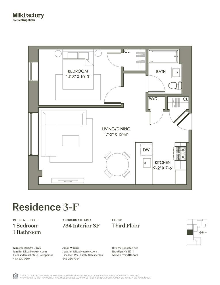 Unit 3F at 850 Metropolitan Avenue, Brooklyn, NY 11211