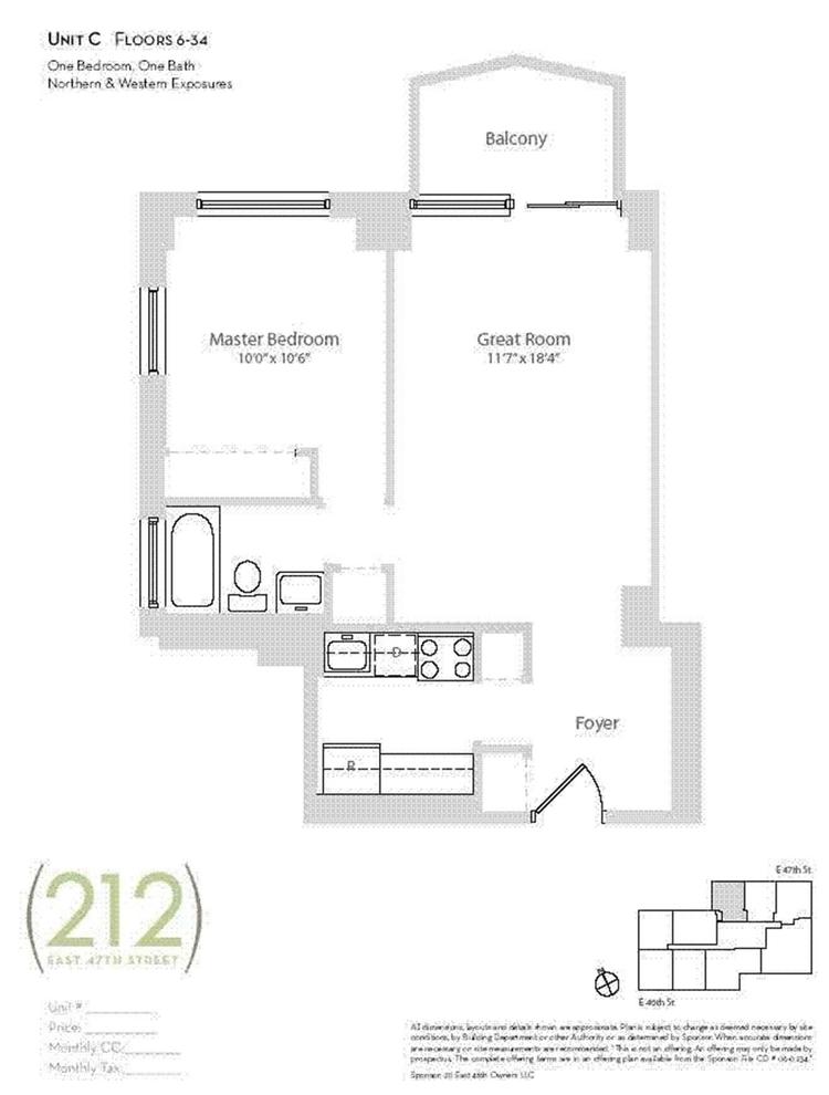 Unit 16C at 212 East 47th Street, New York, NY 10017