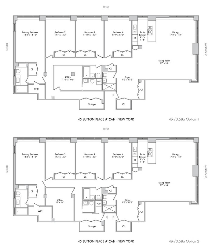 Unit 12A12B at 45 Sutton Place South, New York, NY 10022