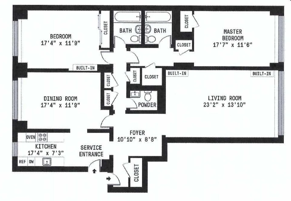 Unit 5F at 35 Sutton Place, New York, NY 10022