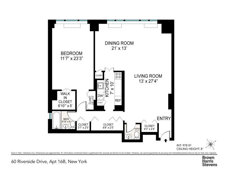 Unit 16B at 60 Riverside Drive, New York, NY 10024