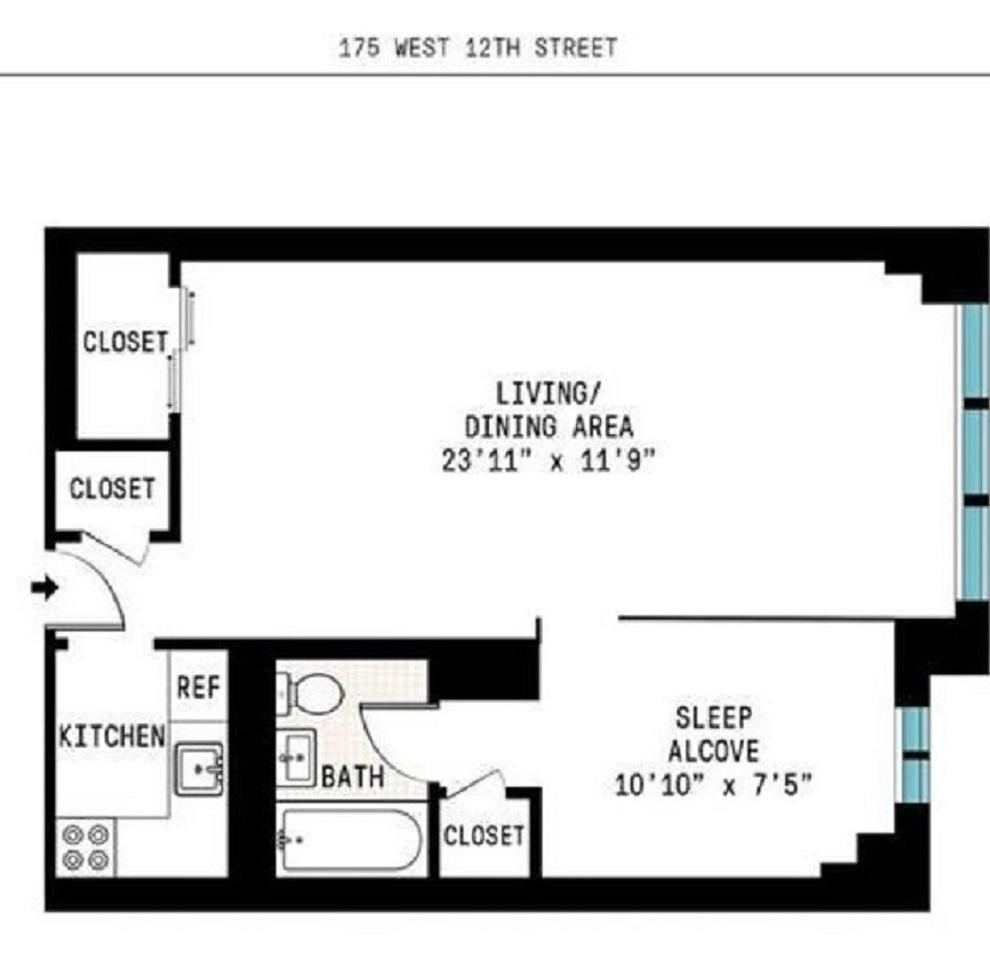 Unit 17K at 175 West 12th Street, New York, NY 10011