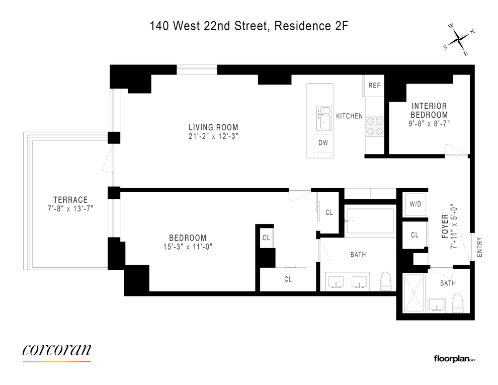 Unit 2F at 140 West 22nd Street, New York, NY 10011