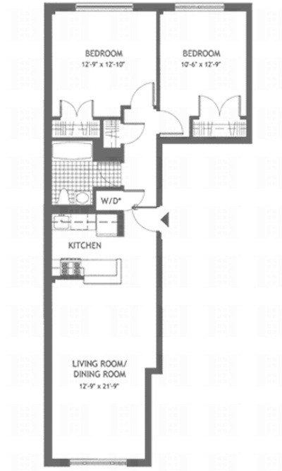 Unit 2A at 50 East 129th Street, New York, NY 10035
