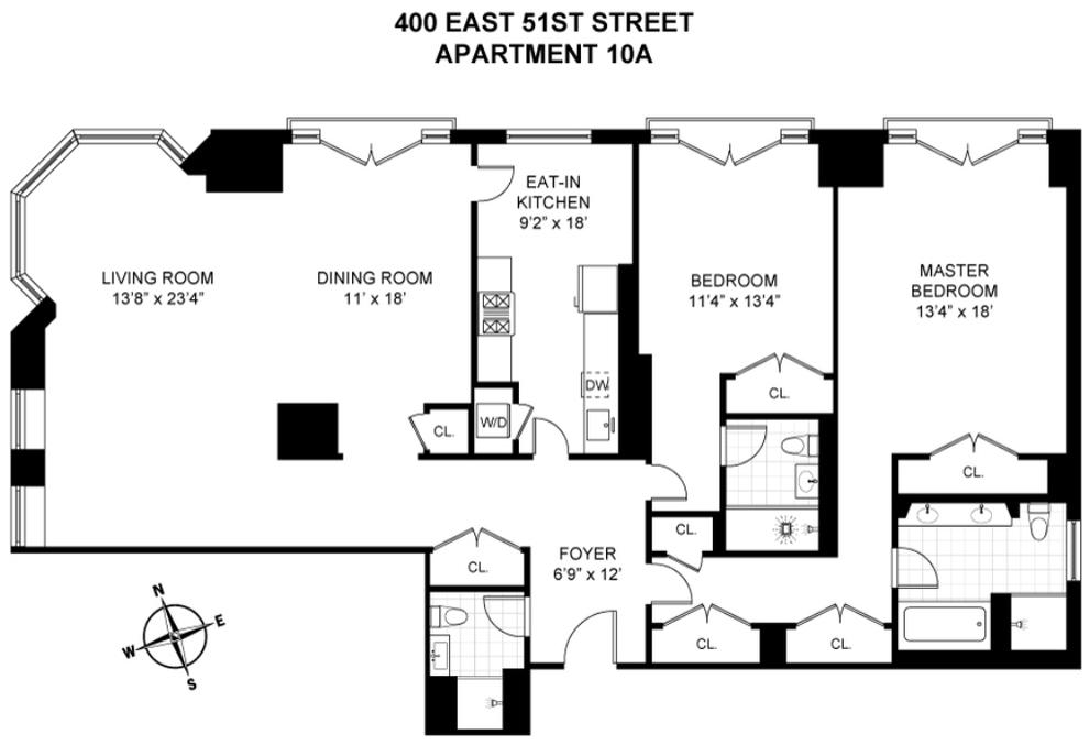 Unit 10A at 400 East 51st Street, New York, NY 10022