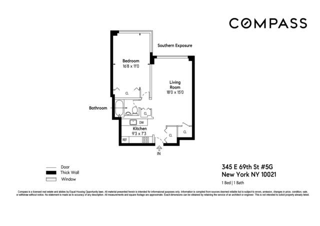 Unit 5G at 345 East 69th Street, New York, NY 10021