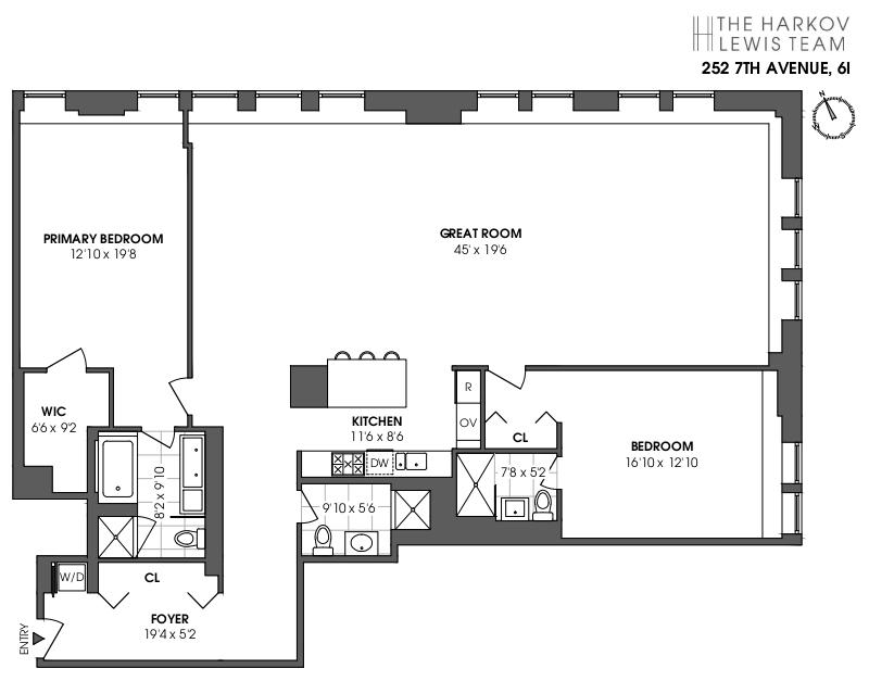 Unit 6I at 252 7th Avenue, New York, NY 10001