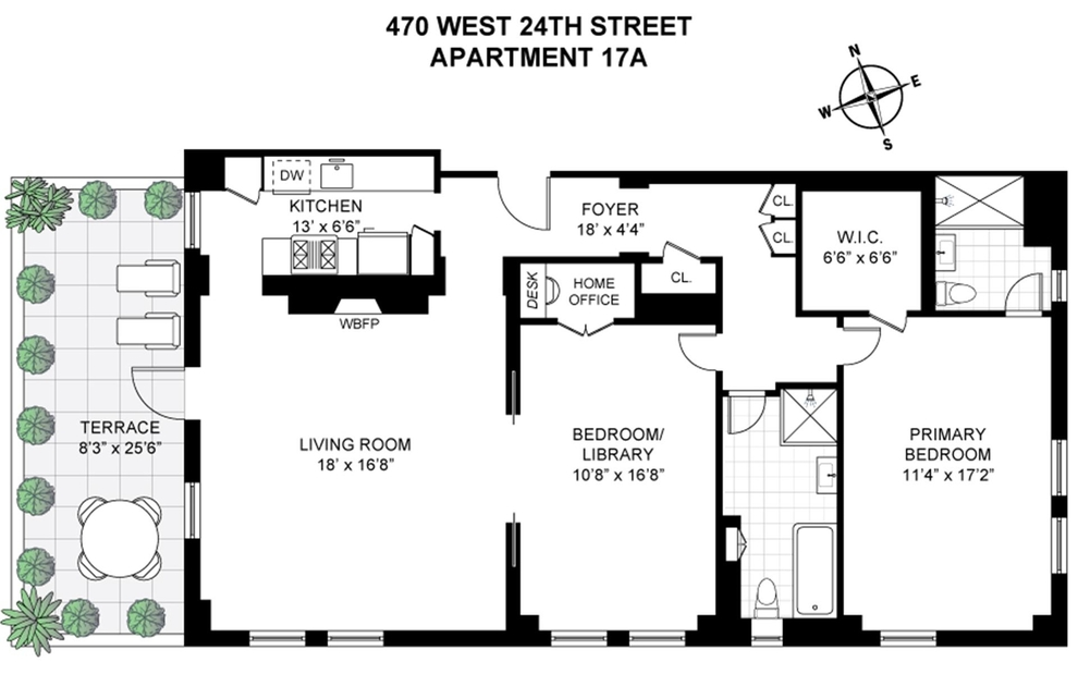 Unit 17A at 470 West 24th Street, New York, NY 10011