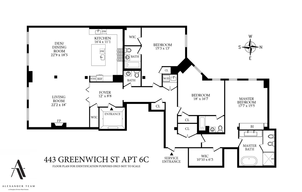 Unit 6C at 443 Greenwich Street, New York, NY 10013