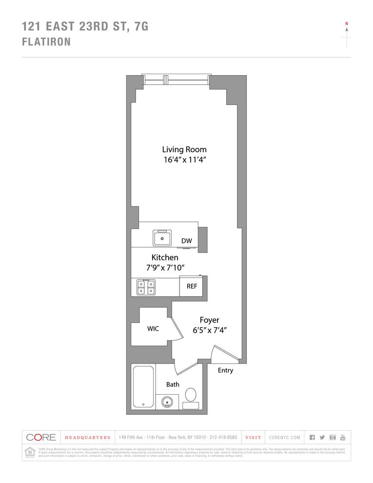 Unit 7G at 121 East 23rd Street, New York, NY 10010