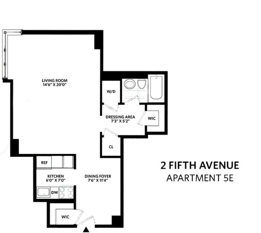 Unit 5E at 2 5th Avenue, New York, NY 10011
