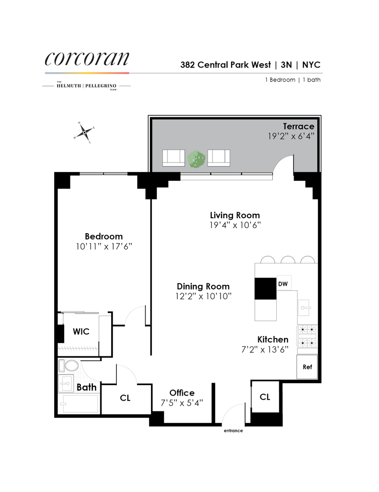 Unit 3N at 382 Central Park West, New York, NY 10025