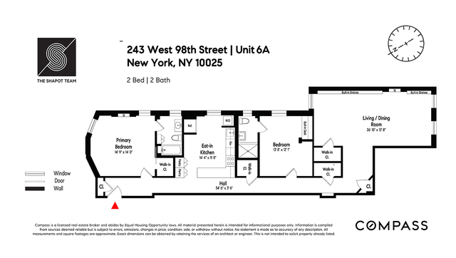 Unit 6A at 243 West 98th Street, New York, NY 10025