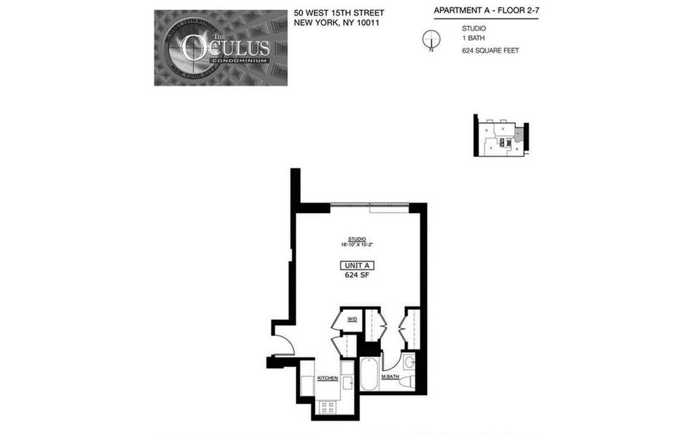 Unit 4A at 50 West 15th Street, New York, NY 10011