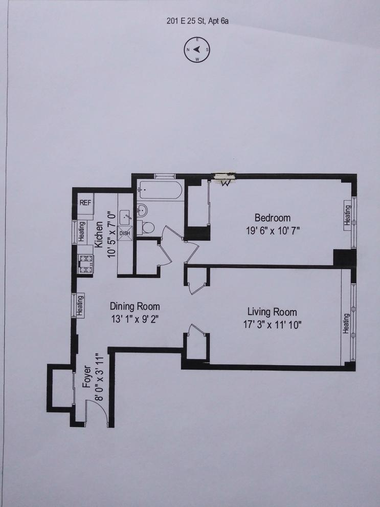 Unit 6A at 201 East 25th Street, New York, NY 10010