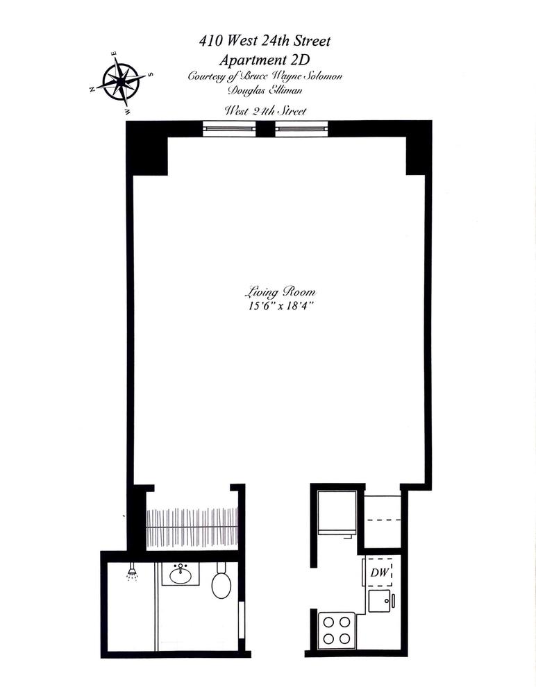 Unit 2E at 405 West 23rd Street, New York, NY 10011