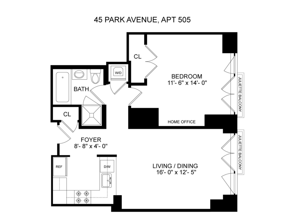 Unit APT505 at 45 Park Avenue, New York, NY 10016