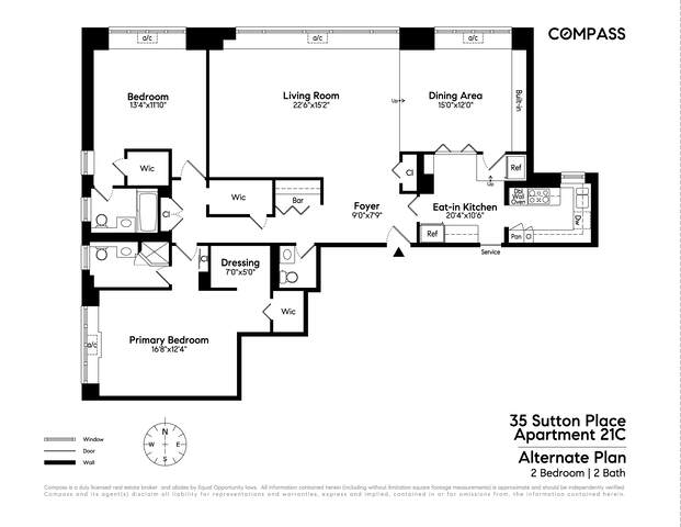 Unit 21C at 35 Sutton Place, New York, NY 10022