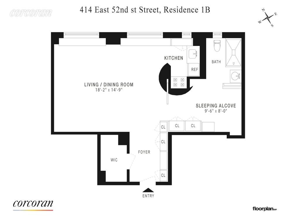 Unit 1B at 414 East 52nd Street, New York, NY 10022