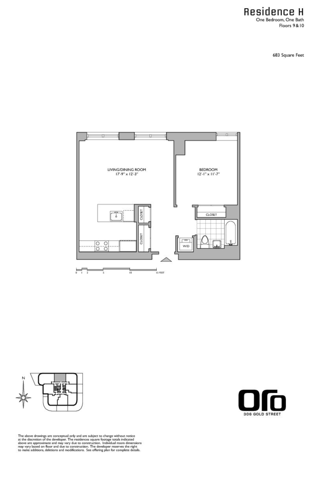 Unit 10H at 306 Gold Street, Brooklyn, NY 11201
