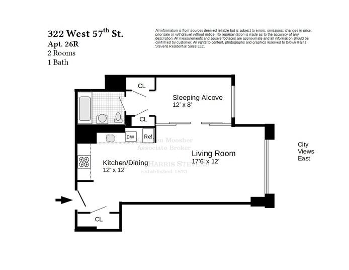 Unit 26R at 322 West 57th Street, New York, NY 10019