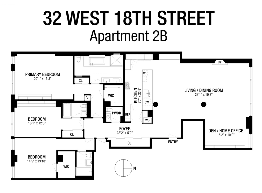 Unit 2B at 32 West 18th Street, New York, NY 10011