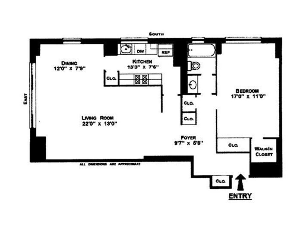 Unit 19N at 60 East 8th Street, New York, NY 10003