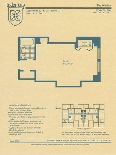 Unit 1539 at 5 Tudor City Place, New York, NY 10017