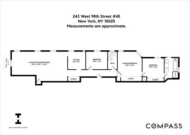 Unit 4E at 243 West 98th Street, New York, NY 10025