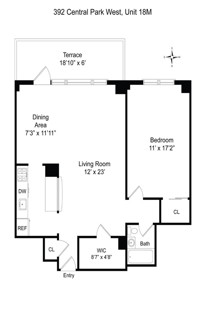 Unit 18M at 392 Central Park West, New York, NY 10025