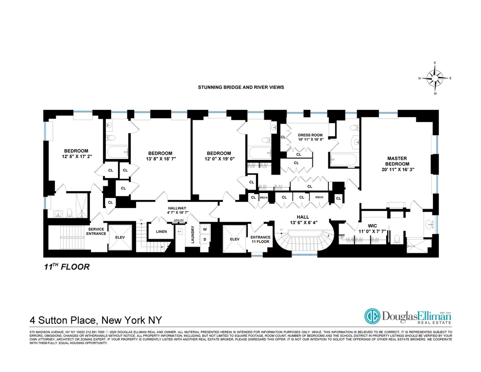 Unit 1011 at 4 Sutton Place, New York, NY 10022