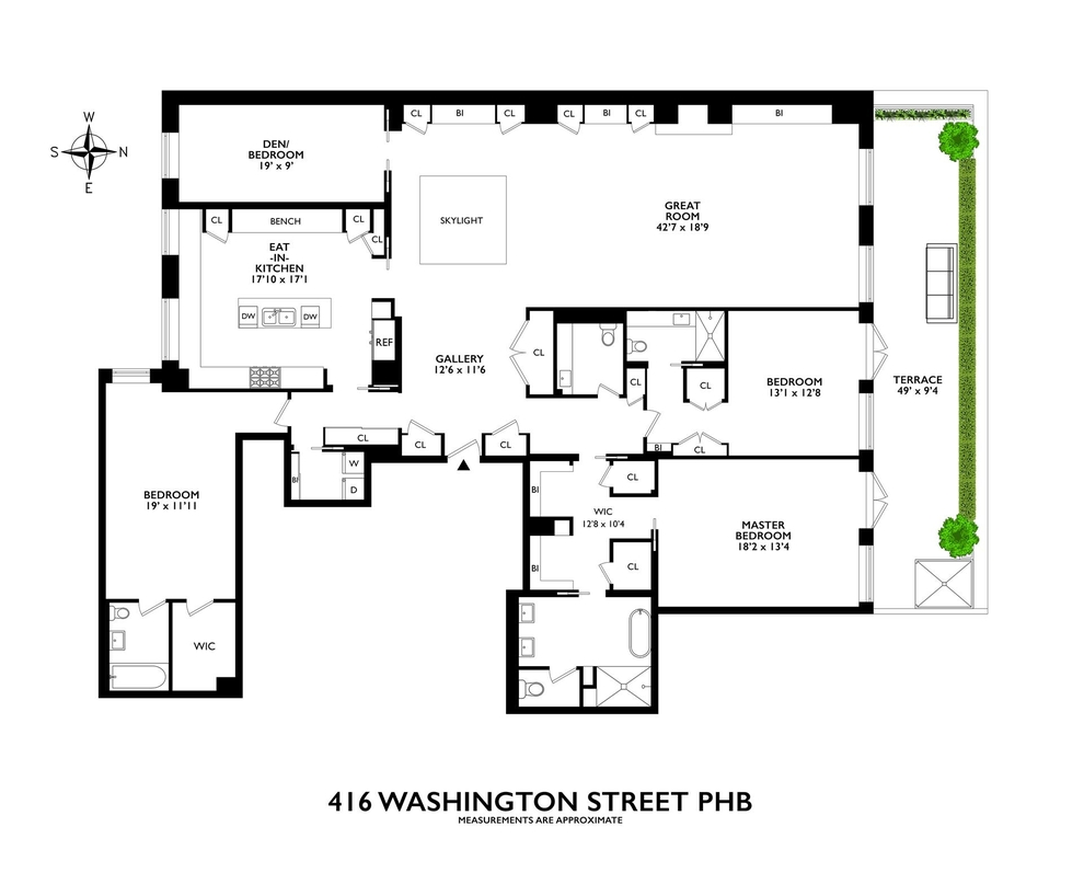 Unit PHB at 416 Washington Street, New York, NY 10013