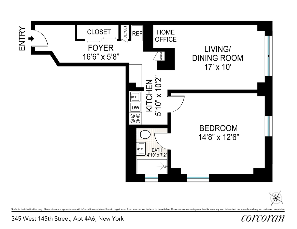 Unit 4A6 at 345 West 145th Street, New York, NY 10031