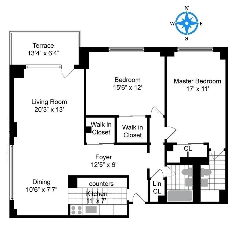 Unit 15D at 392 Central Park West, New York, NY 10025