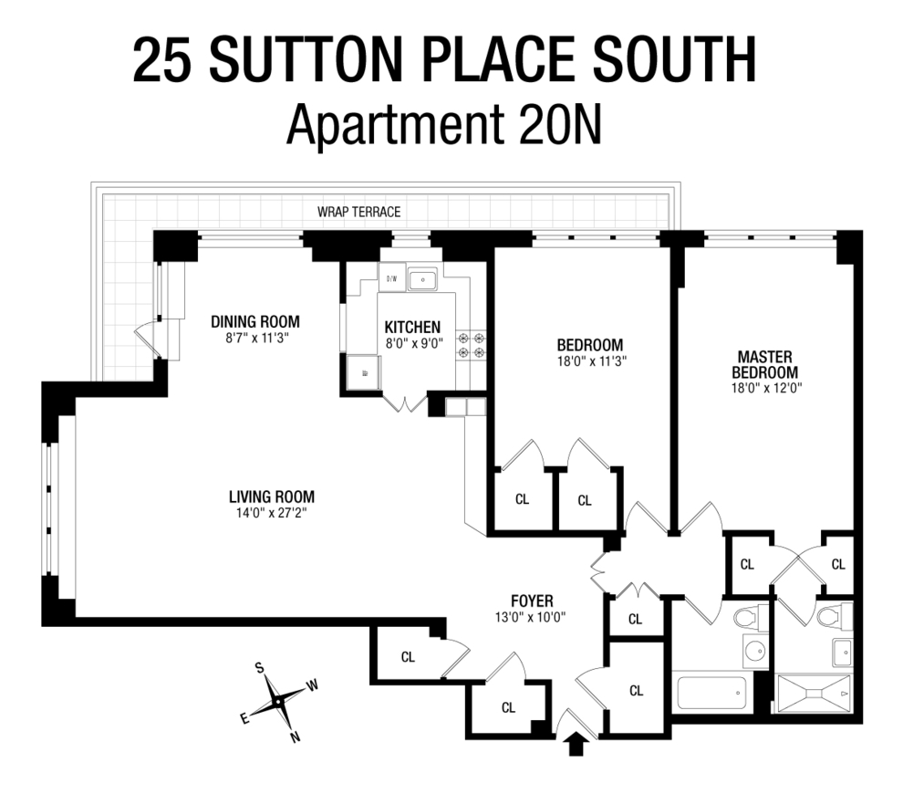 Unit 20N at 25 Sutton Place South, New York, NY 10022