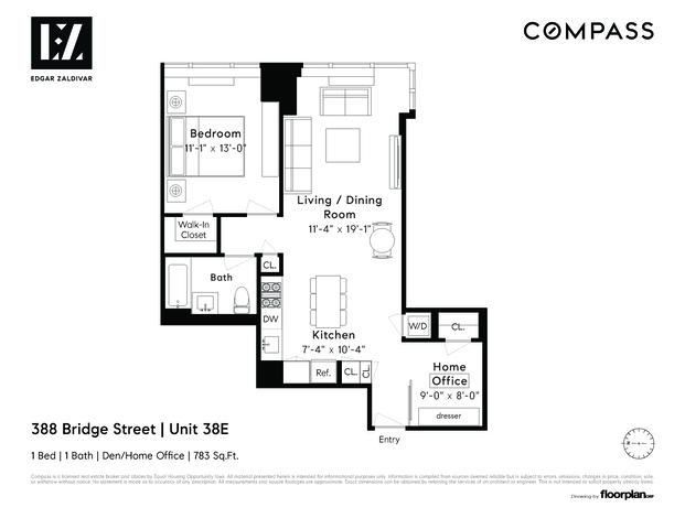 Unit 38E at 388 Bridge Street, Brooklyn, NY 11201