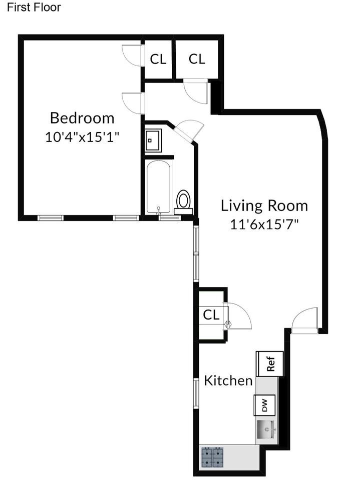 Unit 2F at 961 Washington Avenue, Brooklyn, NY 11225
