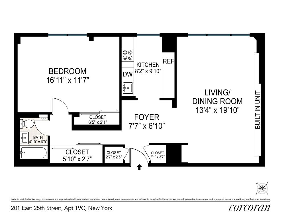 Unit 19C at 201 East 25th Street, New York, NY 10010