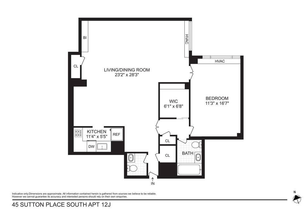 Unit 12J at 45 Sutton Place South, New York, NY 10022