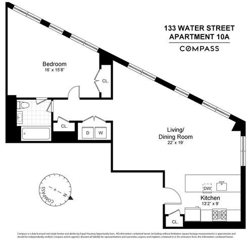 Unit 10A at 133 Water Street, Brooklyn, NY 11201