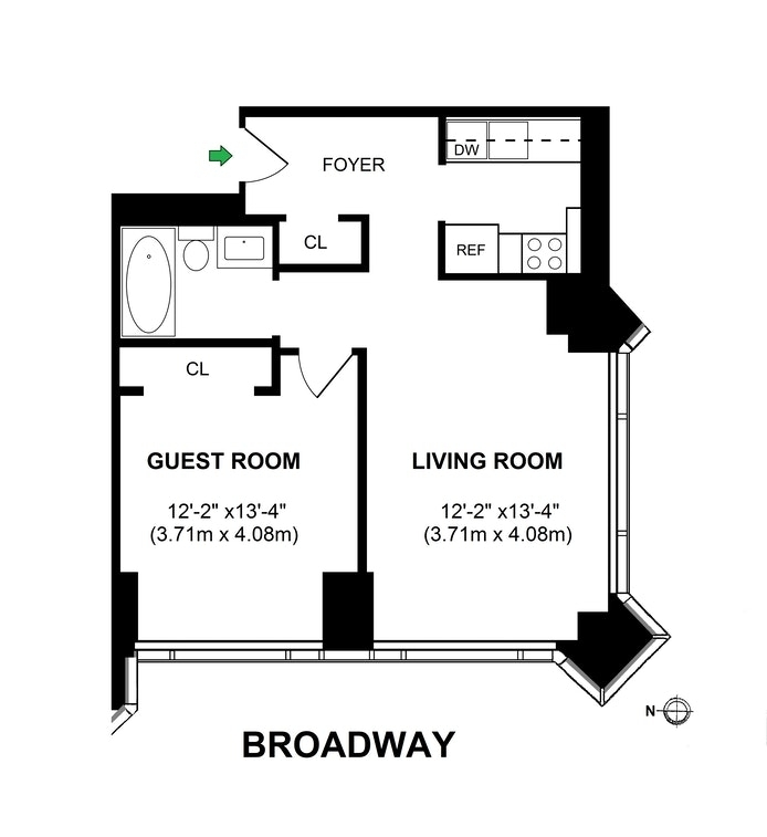 Unit 1714 at 1 Central Park West, New York, NY 10023