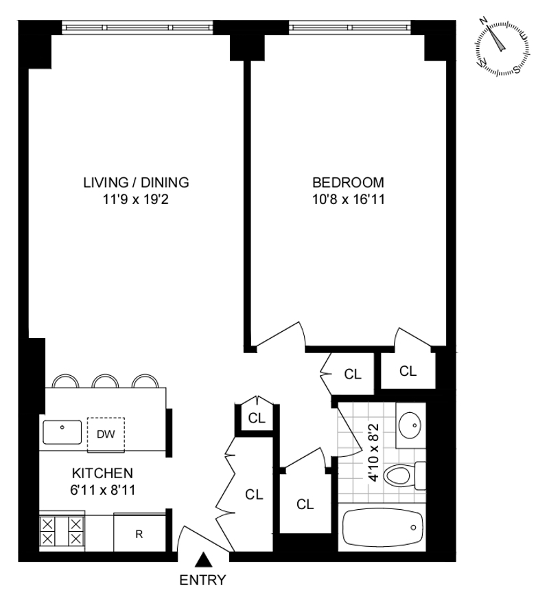 Unit 7T at 30 West 63rd Street, New York, NY 10023