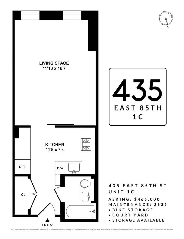 Unit 1C at 435 East 85th Street, New York, NY 10028