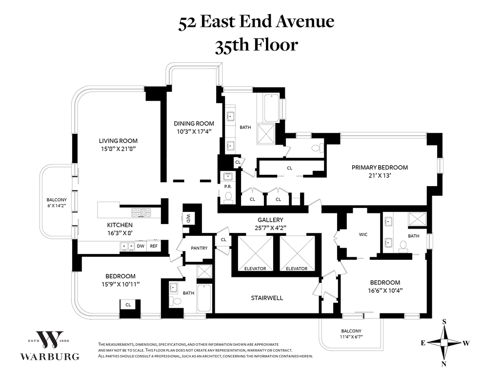 Unit 35FL at 52 East End Avenue, New York, NY 10028
