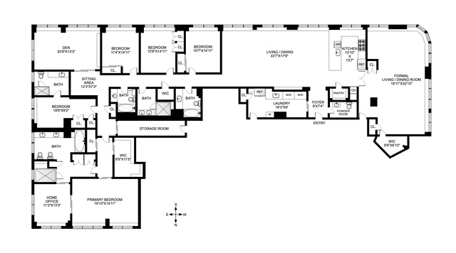 Unit 28D at 30 West 63rd Street, New York, NY 10023