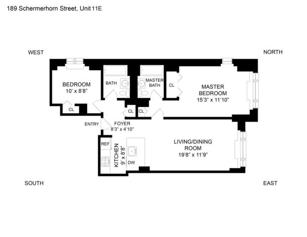 Unit 12E at 189 Schermerhorn Street, Brooklyn, NY 11201