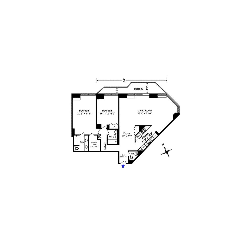 Unit 8C at 240 East 47th Street, New York, NY 10017