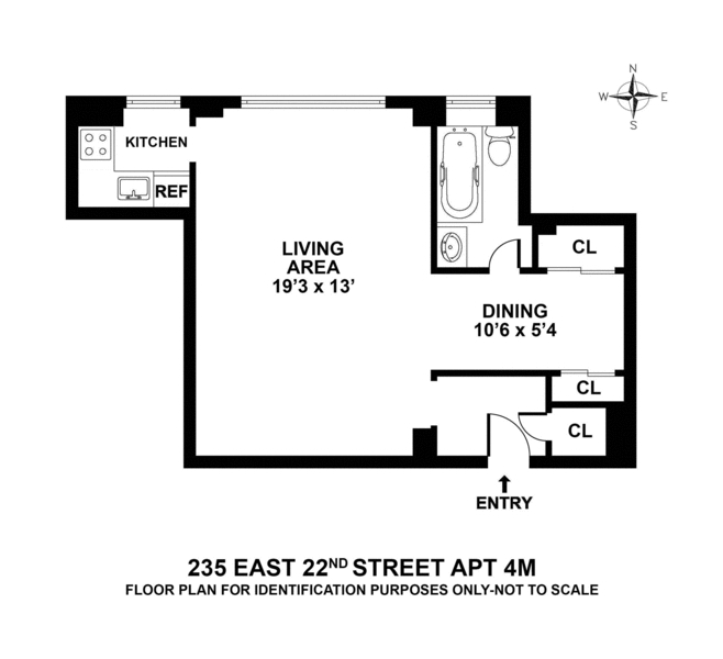 Unit 4M at 235 East 22nd Street, New York, NY 10010